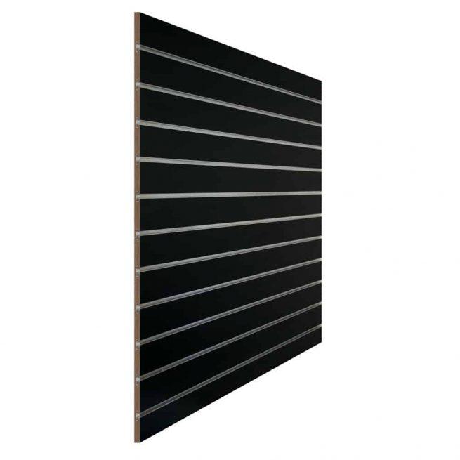 slatwall_zwart 10cm met inschuifprofiel