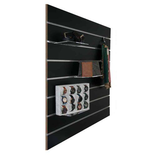 slatwall zwart 15cm met attributen