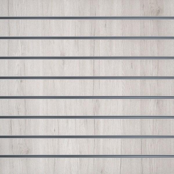 Slatwall wandpaneel Wit Eiken 10cm