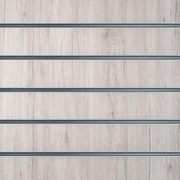 Slatwall wandpaneel Wit Eiken 15cm