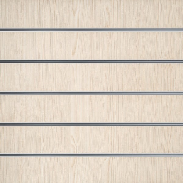 Slatwall wandpaneel Wit Essen 15cm