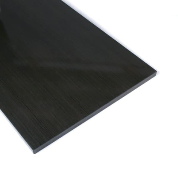 Slatwall Schap Antraciet met Houtnerf (40cmx120cm)