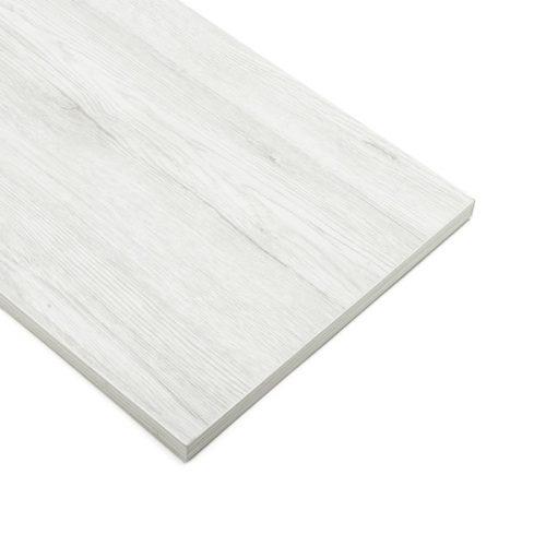Slatwall Schap Wit Eiken Mat (30cmx120cm)